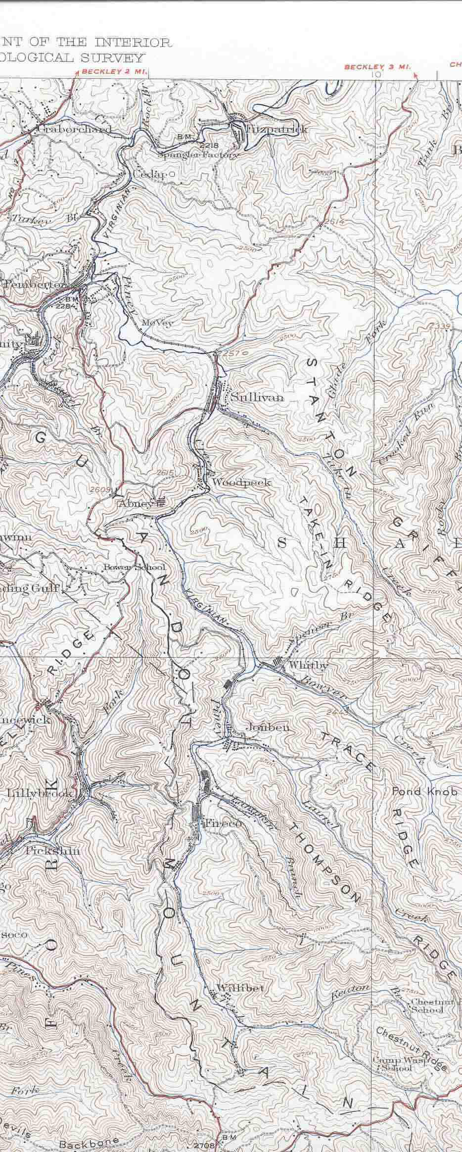 Whitby WV area Rail Map